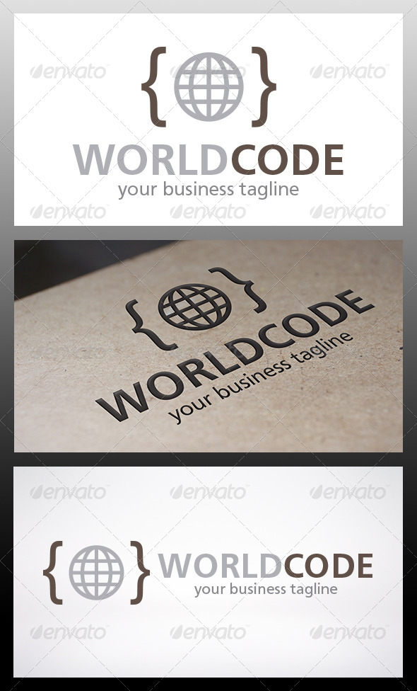 GraphicRiver World Code Logo 6329159