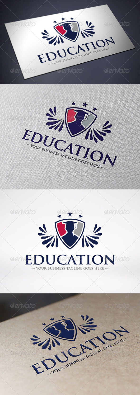 Education Logo Template - Crests Logo Templates