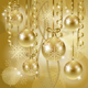 Christmas Background with Baubles in Gold - GraphicRiver Item for Sale