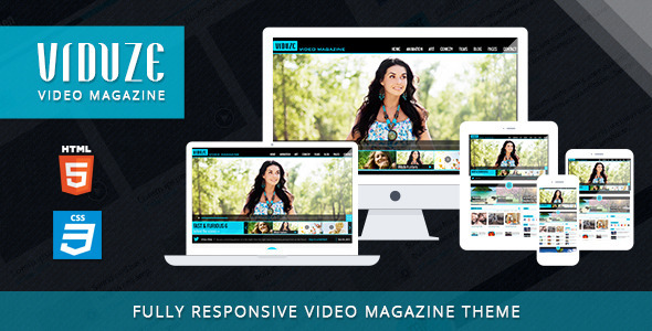 Viduze - Video Magazine HTML Template - Entertainment Site Templates