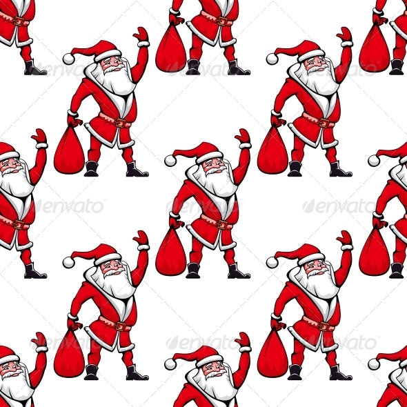 GraphicRiver Seamless Pattern with Santa Claus 6329739