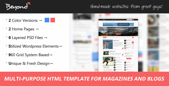 ThemeForest Beyond Multi-purpose HTML Template 6320149