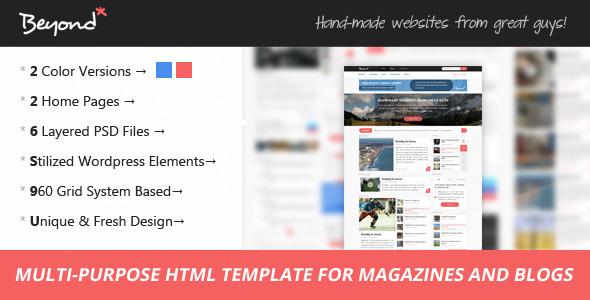 ThemeForest Beyond Multi-purpose HTML Template 6320149