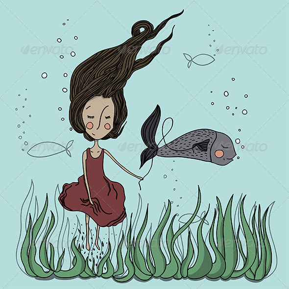 GraphicRiver Friends with Fish 6329888