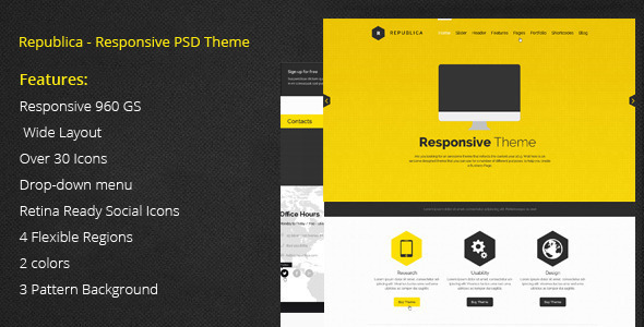 Republica PSD Template - Business Corporate