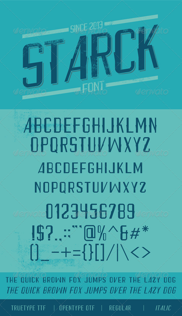 GraphicRiver Starck Font 6330512