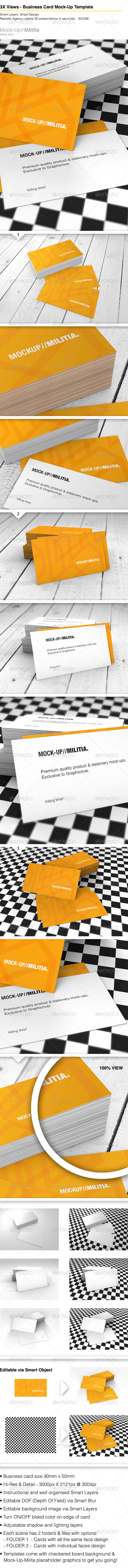 GraphicRiver Business Card Mock-Up Template With Various Scenes 6330528