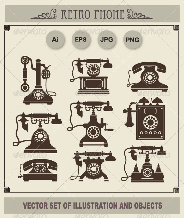 GraphicRiver Retro Phones 6330542