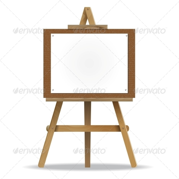 GraphicRiver White Canvas on an Easel 6330562