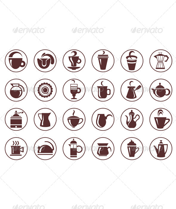 GraphicRiver Coffee Symbols 6330573
