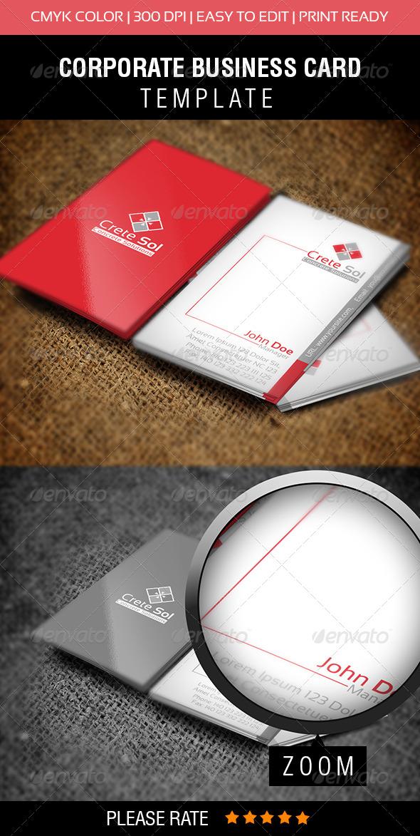 GraphicRiver Crete Sol Business Card 6330646