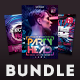Electro Party Flyer Bundle Vol.3 - GraphicRiver Item for Sale