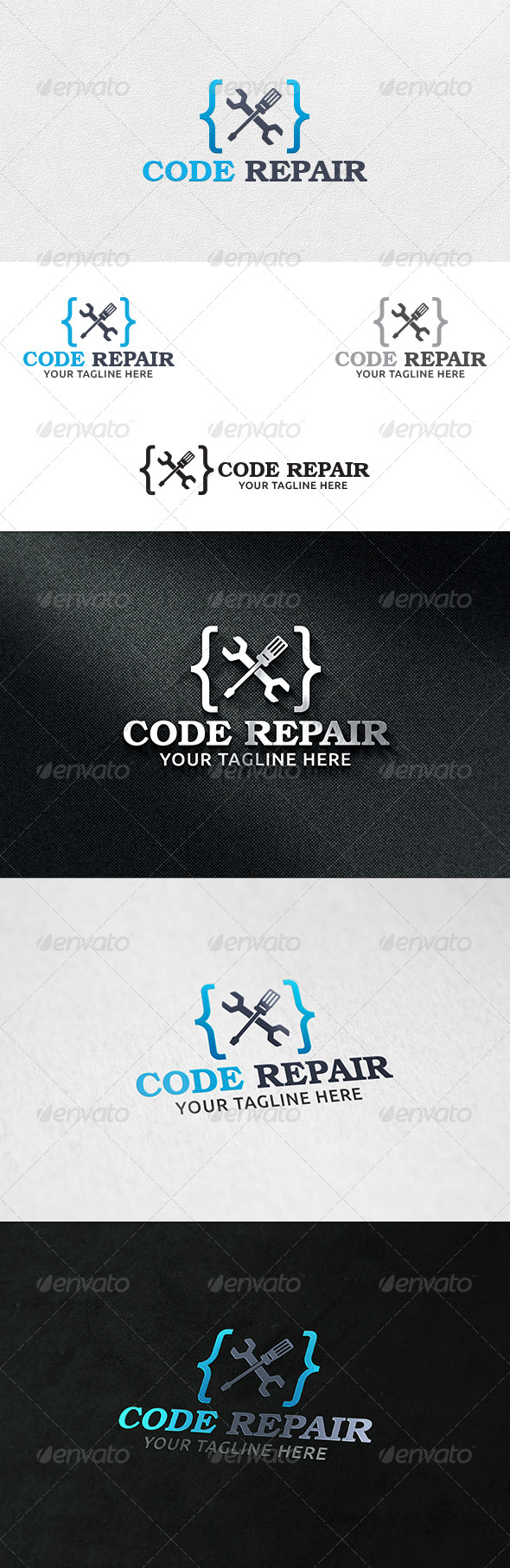 GraphicRiver Code Repair Logo Template 6331273