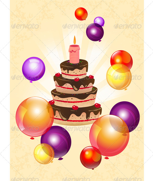 GraphicRiver Birthday Cake 6331572