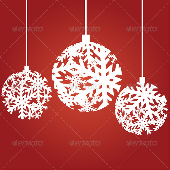 GraphicRiver Snowflake Christmas Ornaments 6331615