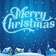 Merry Christmas Lettering - GraphicRiver Item for Sale