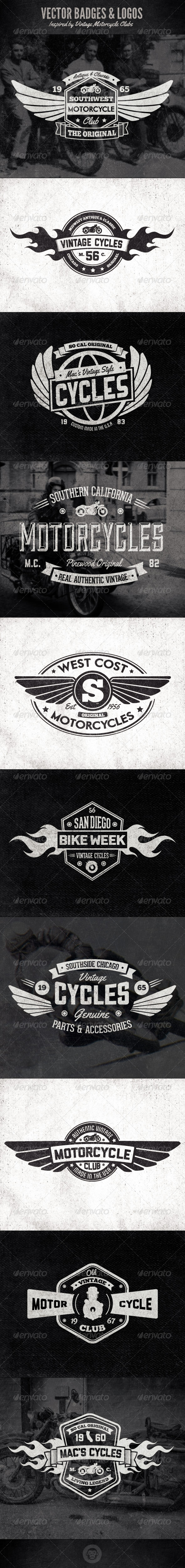 GraphicRiver Vintage Badges and Logos Motorcyle Inspired 6331997