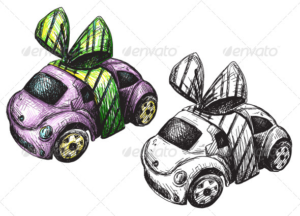 GraphicRiver Sketch of a Toy Car 6332019
