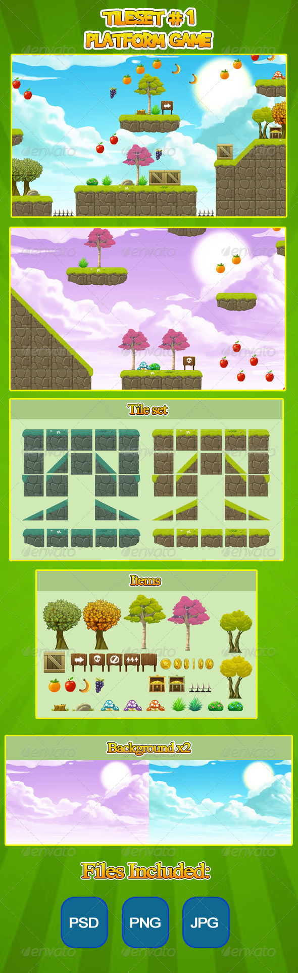 GraphicRiver 2D Tileset Platform Game 6332238