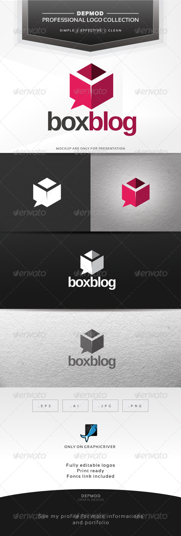 GraphicRiver Box Blog Logo 6332342