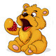 Teddy Bear Eats Raspberries - GraphicRiver Item for Sale