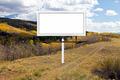 Billboard Sign Along Mountain Dirt Trail - PhotoDune Item for Sale
