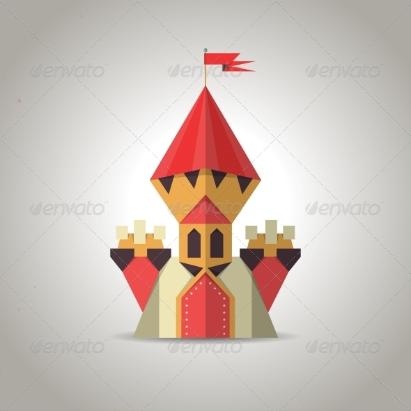 GraphicRiver Origami Castle from Folded Paper 6332518