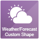 Weather, Forecast Custom Shape - GraphicRiver Item for Sale