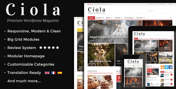 Ciola - Premium Responsive WordPress Magazine - News / Editorial Blog / Magazine