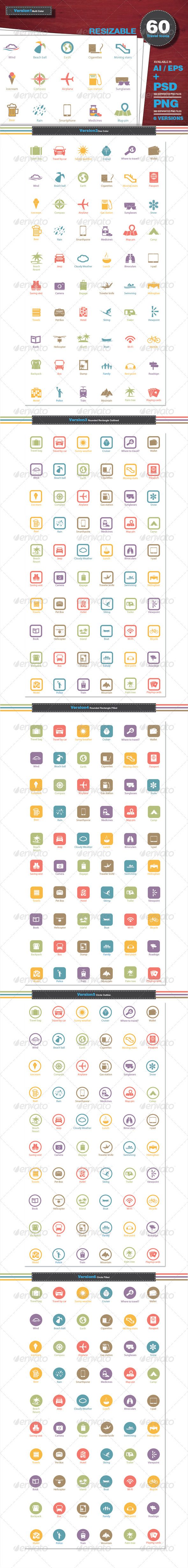 GraphicRiver Travel Icons 6333405