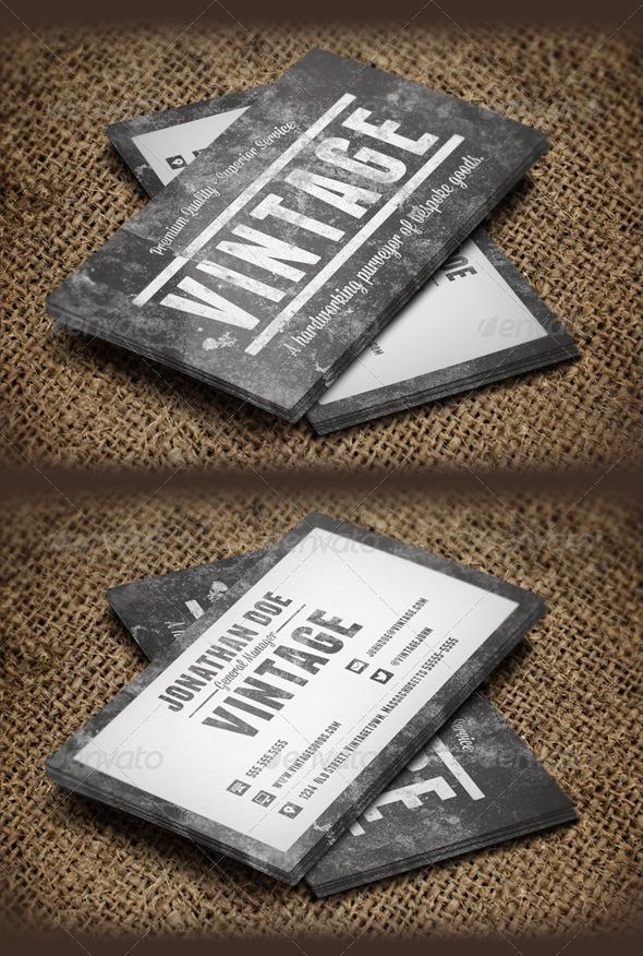 GraphicRiver Vintage Grunge Business Cards 6283084