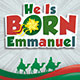He Is Born Kids Christmas Flyer Template - GraphicRiver Item for Sale
