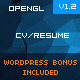 WebGL-CV/Resume Responsive (Wordpress Free Bonus) - ThemeForest Item for Sale