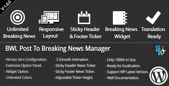 CodeCanyon BWL Post To Breaking News Manager 6335199