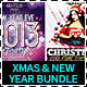Christmas Night & New Year Eve Party Flyer Bundle - GraphicRiver Item for Sale