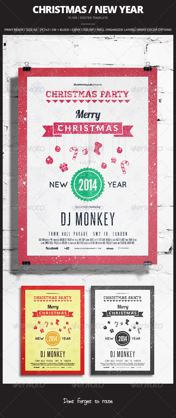 GraphicRiver Christmas New Year Flyer Poster 3 6335528