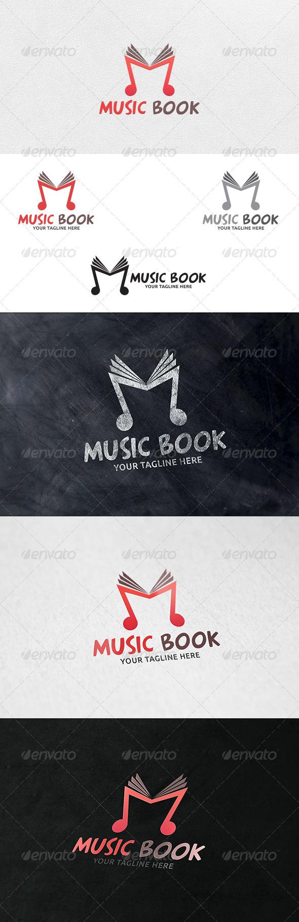 GraphicRiver Music Book Logo Template 6335537