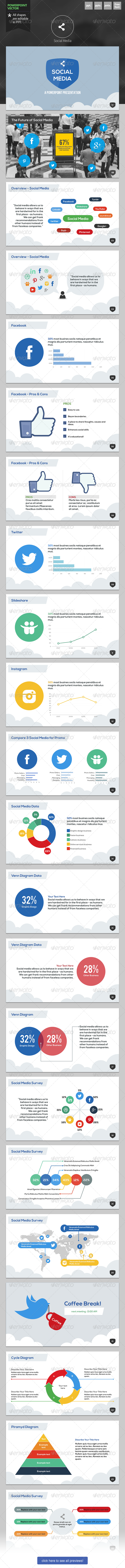GraphicRiver Social Media Powerpoint Template 6335900