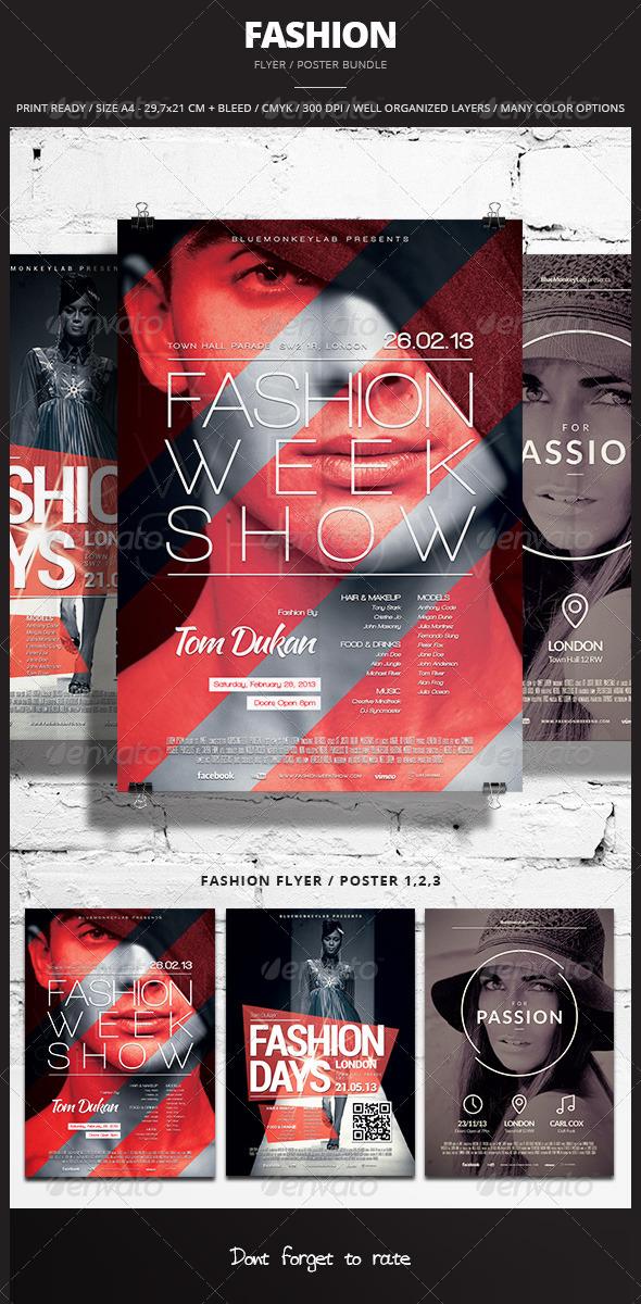 GraphicRiver Fashion Flyer Poster Bundle 6335996