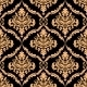 Damask Floral Pattern with Brown Colours - GraphicRiver Item for Sale