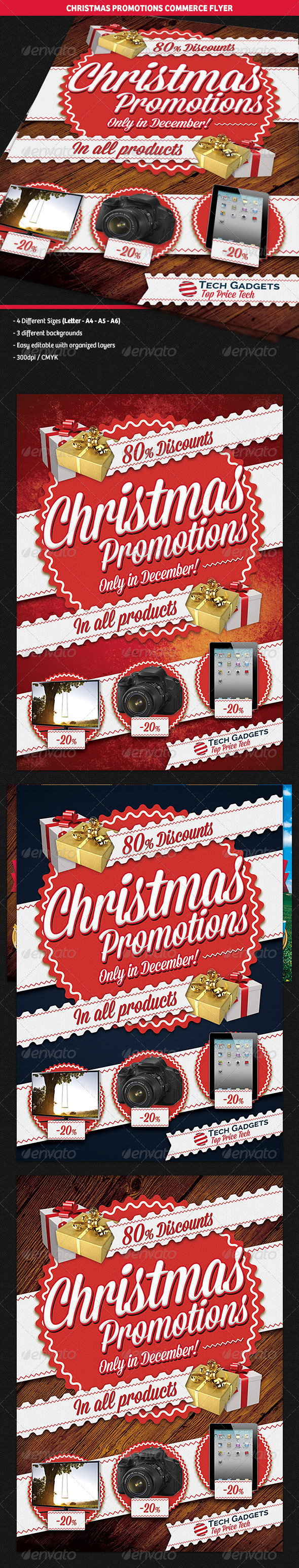 GraphicRiver Christmas Promotions Commerce Flyer 6310962