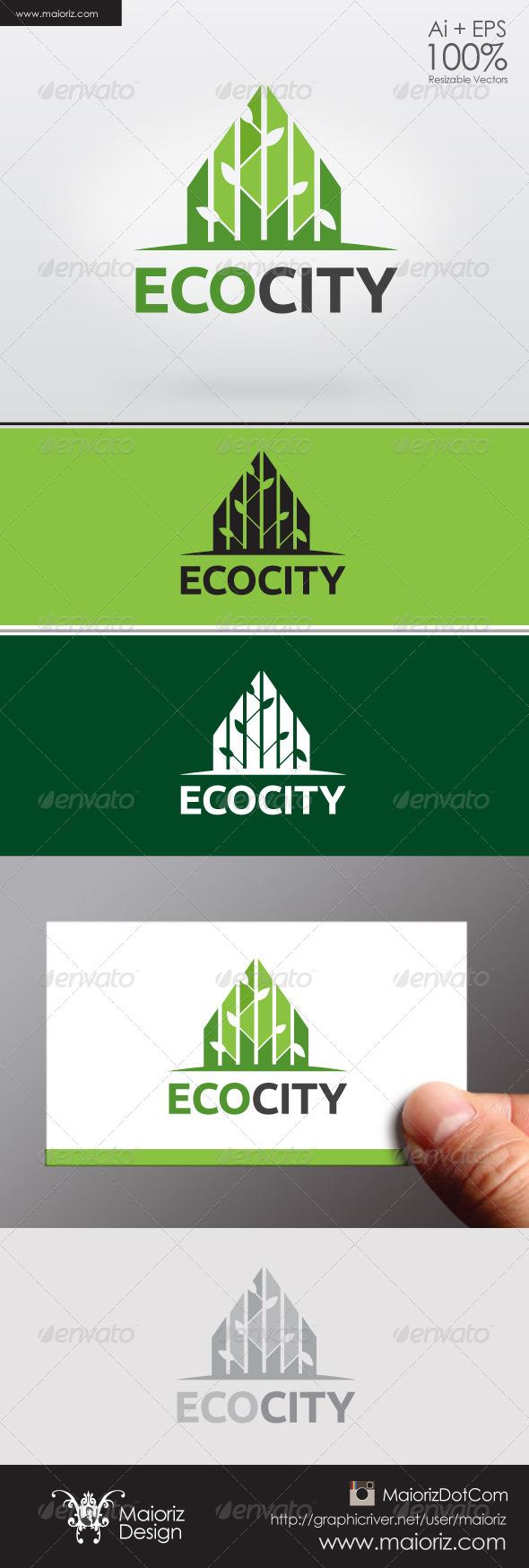 GraphicRiver Eco City Logo 6336248