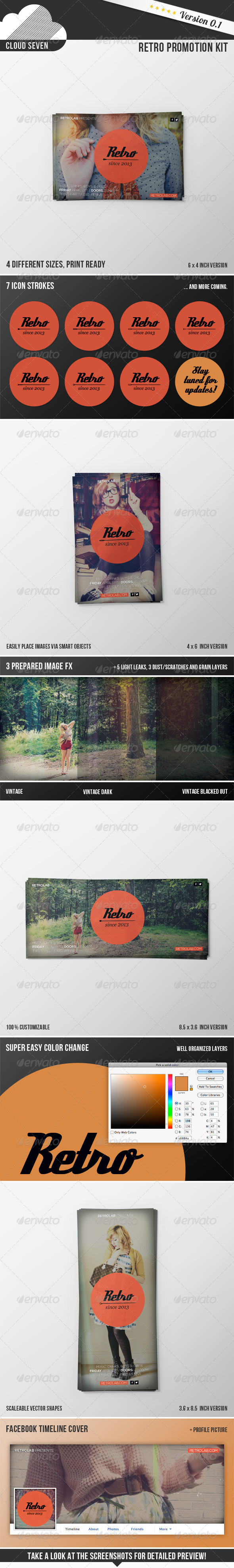 GraphicRiver Retro Promotion Kit 6309238