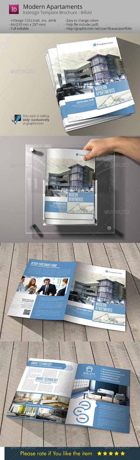 GraphicRiver Modern Apartaments Indesign Template Brochure A4 6336527