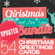 Christmas and New Year 54 Greeting Cards Bundle - GraphicRiver Item for Sale