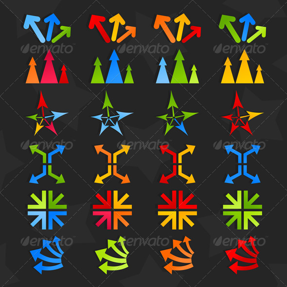 Collection of arrows7 - Web Elements Vectors