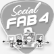 Social Icons Fab Four Band - Animated - ActiveDen Item for Sale