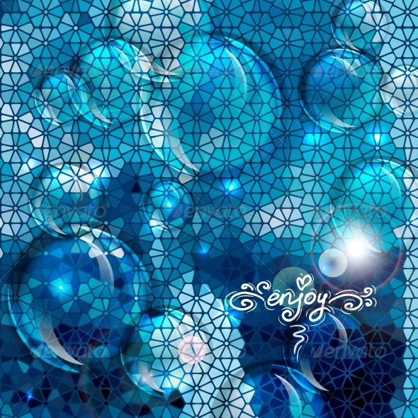 GraphicRiver Blue Abstract Air Bubbles Background 6337614