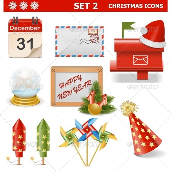 GraphicRiver Vector Christmas Icons Set 2 6337647