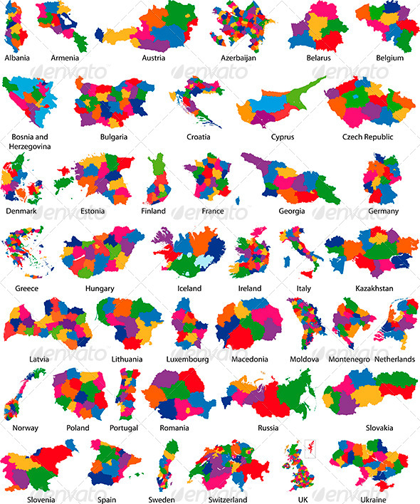 GraphicRiver Europe Country Maps 6332870